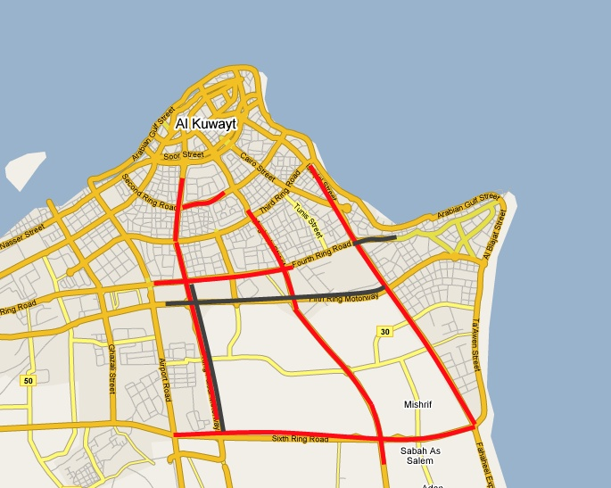 Z District Kuwait Traffic