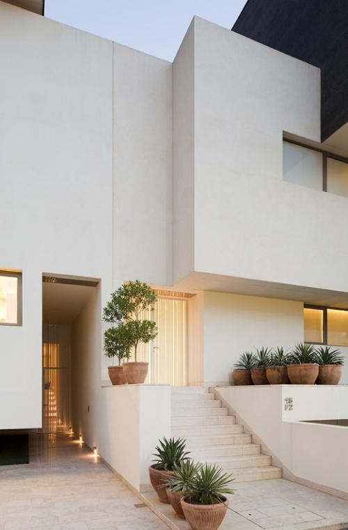 Z district black white houses kuwait for Modern house design kuwait