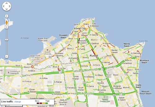 Z District Kuwait Google Maps Live Traffic