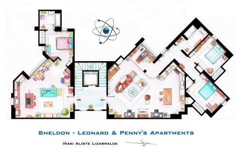 FloorPlanTheBigBangTheory