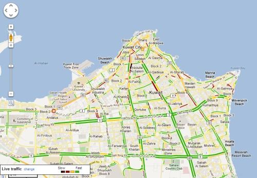 Z District Kuwait Google Maps Live Traffic
